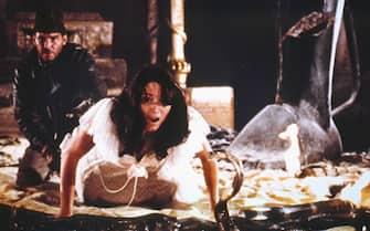 """Harrison Ford e Karen Allen in una scena de """"I predatori dell'arca perduta"""""""