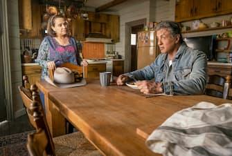 Adriana Barraza as 'Maria Beltran' and Sylvester Stallone as 'John Rambo' in RAMBO: LAST BLOOD. Photo Credit: Yana Blajeva.