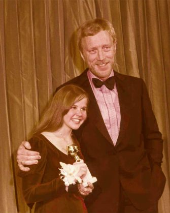***FILE PHOTO*** Max Von Sydow Has Passed Away at 90. Linda Blair and Max Von Sydow at the The 31th Annual Golden Globe Awards in 1973 . Credit: 2118715Globe Photos/MediaPunch Credit: MediaPunch Inc/Alamy Live News