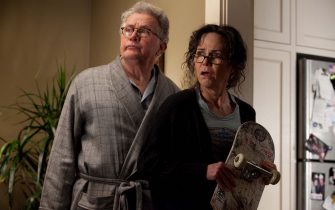 """Martin Sheen and Sally Field in Columbia Pictures' """"The Amazing Spider-Man,"""" starring Andrew Garfiled and Emma Stone."""