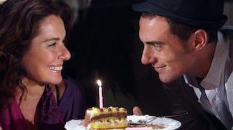 """Orvieto Settembre 200: Monica Guerritore e Elio Germano sul set di """"La Bella Gente"""" regia di Ivano De Matteo Prodotto da X Film.Foto: © Franco Origlia"""