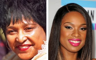 (FILE PHOTO) In this composite image a comparison has been made between Winnie Madikizela-Mandela (L) and actress Jennifer Hudson. Jennifer Hudson played Winnie Madikizela-Mandela in a 2011 film biopic about the wife of Nelson  Mandela  entitled 'Winnie.' ***LEFT IMAGE*** SOUTH AFRICA - MARCH 1995:  Winnie Madikizela-Mandela looks on in 1995 in South Africa. (Photo by Oryx Media Archive/Gallo Images/Getty Images)  ***RIGHT IMAGE*** LOS ANGELES, CA - NOVEMBER 20:  Singer Jennifer Hudson arrives at the 2011 American Music Awards held at Nokia Theatre L.A. LIVE on November 20, 2011 in Los Angeles, California.  (Photo by Jason Merritt/Getty Images)