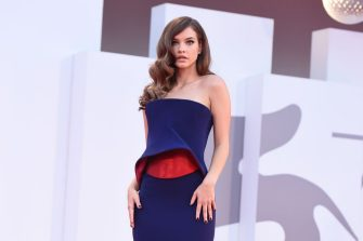 """VENICE, ITALY - SEPTEMBER 04:  Barbara Palvin attends the red carpet of the movie """"Competencia Oficial"""" during the 78th Venice International Film Festival on September 04, 2021 in Venice, Italy. (Photo by Stefania D'Alessandro/Getty Images)"""