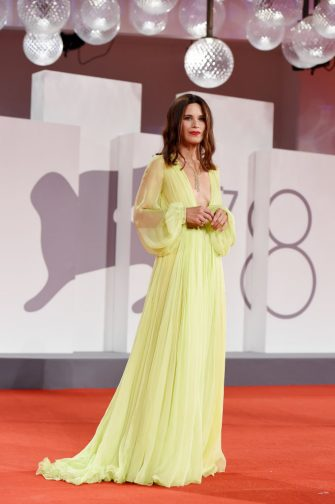 """VENICE, ITALY - SEPTEMBER 06:  Valentina Cervi attends the red carpet of the movie """"La Scuola Cattolica"""" during the 78th Venice International Film Festival on September 06, 2021 in Venice, Italy. (Photo by Stefania D'Alessandro/Getty Images)"""