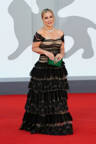 """VENICE, ITALY - SEPTEMBER 08: Anastacia attends the red carpet of the movie """"Freaks Out"""" during the 78th Venice International Film Festival on September 08, 2021 in Venice, Italy. (Photo by Ernesto Ruscio/Getty Images)"""