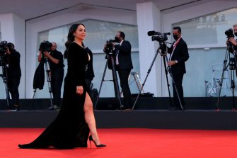 """VENICE, ITALY - SEPTEMBER 07: Maria Nazionale attends the red carpet of the movie """"Qui Rido Io"""" during the 78th Venice International Film Festival on September 07, 2021 in Venice, Italy. (Photo by Maria Moratti/Getty Images)"""