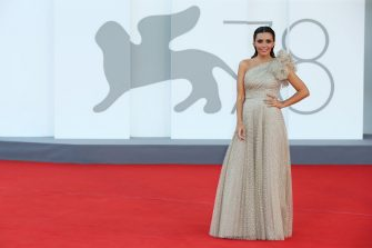 """VENICE, ITALY - SEPTEMBER 08: Serena Rossi attends the red carpet of the movie """"Freaks Out"""" during the 78th Venice International Film Festival on September 08, 2021 in Venice, Italy. (Photo by Ernesto Ruscio/Getty Images)"""