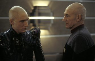 Dec 17, 2002; Hollywood, CA, USA; Left to right, TOM HARDY as SHINZON and PATRICK STEWART as Captain Jean-Luc Picard in the new Star Trek movie, 'Nemesis.'Mandatory Credit: Photo by Paramount Pictures/ZUMA Press.(©) Copyright 2002 by Paramount Pictures