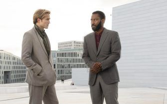 USA. John David Washington and Robert Pattinson  in the ©Warner Bros. new movie: Tenet (2020). Plot: An action epic revolving around international espionage, time travel, and evolution.Ref: LMK106-J6779-250920Supplied by LMKMEDIA. Editorial Only.Landmark Media is not the copyright owner of these Film or TV stills but provides a service only for recognised Media outlets. pictures@lmkmedia.com