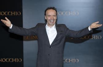 Lattore Roberto Benigni posa per i fotografi in occasione del photocall di presentazione del film Pinocchio a Roma, 12 dicembre 2019. ANSA/CLAUDIO PERI