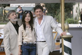 VENICE, ITALY - SEPTEMBER 04:  Director Gianni Amelio, actors Tai Ling and Sergio Castellitto arrive at the Hotel Excelsior during the sixth day of the 63rd Venice Film Festival on September 4, 2006 in Venice, Italy.  (Photo by Franco Origlia/Getty Images)