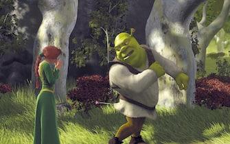 """Una scena del film """"Shrek"""",  diretto da Andrew Adamson e Vicky Jenson, uscito nelle sale Usa il 18 maggio 2001"""