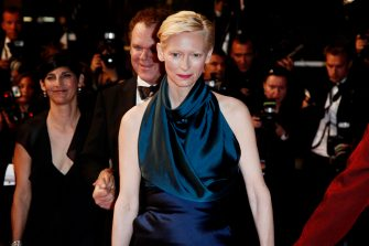 (KIKA) - CANNES - Festival de Cannes: red carpet of We Need to Talk About Kevin. Tilda Swinton and director Lynne Ramsay crossed the croisette with John C. Reilly.  AndreaRaffin?kikapress.com