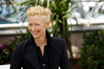 (KIKA) - CANNES - Director Jim Jarmush and actress Tilda Swinton attended the photocall for the film Only Lovers Left Live. The movie is centered on two vampires who have been in love for centuries.