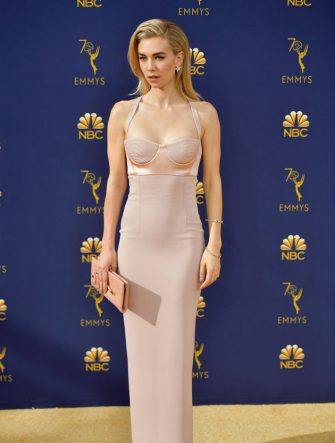 LOS ANGELES, CA - SEPTEMBER 17: Vanessa Kirby attends the 70th Emmy Awards at Microsoft Theater on September 17, 2018 in Los Angeles, California.  (Photo by Matt Winkelmeyer/Getty Images)