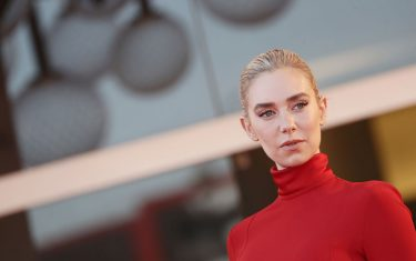 """VENICE, ITALY - SEPTEMBER 05: Vanessa Kirby walks the red carpet ahead of the movie """"Pieces of a woman"""" at the 77th Venice Film Festival on September 05, 2020 in Venice, Italy. (Photo by Vittorio Zunino Celotto/Getty Images)"""