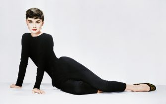 Audrey Hepburn poses for her publicity photo to promote the film Sabrina.