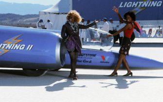"""392502 05:  Actresses Whoopi Goldberg as Vera Baker and Lanai Chapman as Merill Jennings perform in the film """"Rat Race.""""  (Photo Courtesy of Paramount Pictures/Getty Images)"""