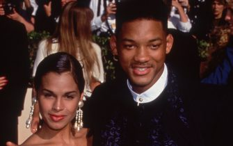 19th September 1993:  American actor and rapper Will Smith, then star of the TV sitcom, 'The Fresh Prince of Bel Air,'  with his first wife Sheree Zampino at the Emmy Awards in Pasadena, California.  (Photo by Miranda Shen/Fotos International/Getty Images)
