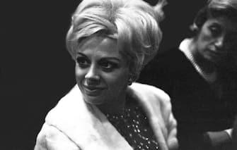 NEW YORK, NY - JANUARY 12:  Actress Sandra Milo at the Opera on January 12,1966 in New York, New York. (Photo by Santi Visalli/Getty Images)