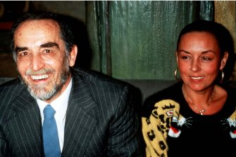 29/06/2000 SPETTACOLONELLA FOTO : VITTORIO GASSMAN CON LA MOGLIE@LAPRESSE