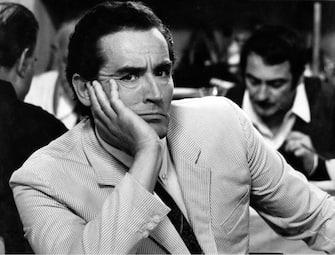 """20-05-1969 ROMASPETTACOLOFILM """"13""""NELLA FOTO: VITTORIO GASSMAN DURANTE LE RIPRESE @LAPRESSE"""