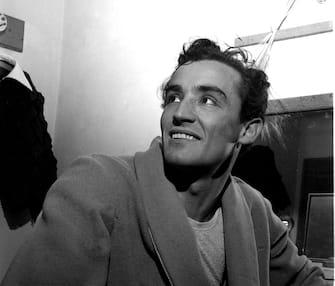 """18-02-1953SPETTACOLO""""RE LEAR""""NELLA FOTO: VITTORIO GASSMAN IN CAMERINO@LAPRESSE"""
