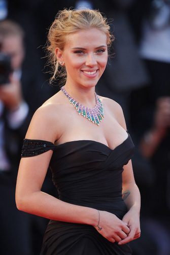 VENICE, ITALY - SEPTEMBER 03:  Actress Scarlett Johansson attends 'Under The Skin' Premiere during the 70th Venice International Film Festival at Palazzo del Cinema on September 3, 2013 in Venice, Italy.  (Photo by Georges De Keerle/Getty Images)