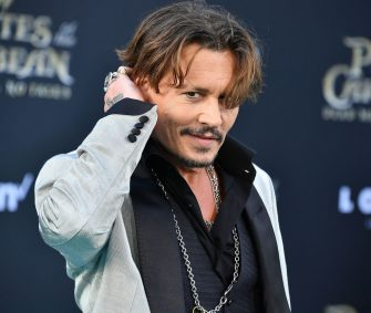 "HOLLYWOOD, CA - MAY 18:  Johnny Depp arrives at the Premiere Of Disney's ""Pirates Of The Caribbean: Dead Men Tell No Tales""  at Dolby Theatre on May 18, 2017 in Hollywood, California.  (Photo by Steve Granitz/WireImage)"