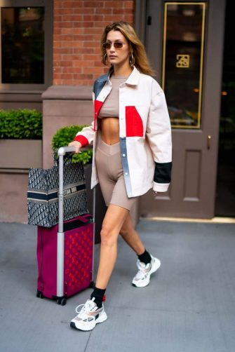 NEW YORK, NEW YORK - JULY 25: Bella Hadid is seen wearing Diesel in Tribeca on July 25, 2019 in New York City. (Photo by Gotham/GC Images)