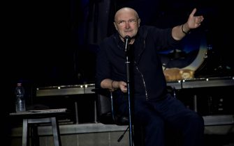 MILAN, ITALY - JUNE 17: Phil Collins performs at the Mediolanum Assago Forum at Mediolanum Forum of Assago on June 17, 2019 in Milan, Italy. (Photo by Francesco Prandoni/Getty Images)