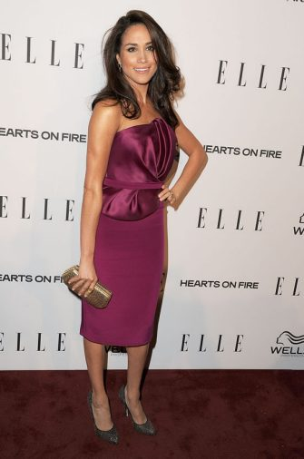WEST HOLLYWOOD, CA - JANUARY 24:  Meghan Markle arrives at the ELLE's 2nd Annual Women In Television Celebratory Dinner at Soho House on January 24, 2013 in West Hollywood, California.  (Photo by Steve Granitz/WireImage)