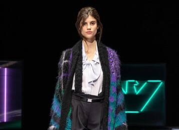 Milano Fashion Week, la collezione AI 2021-22 di Emporio Armani. FOTO