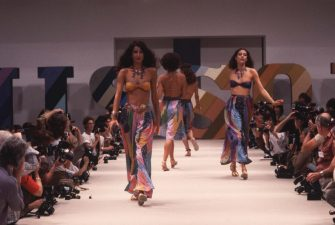 Fashion models wear clothes from the Missoni spring-summer collection on a catwalk in Milan. (Photo by �� Vittoriano Rastelli/CORBIS/Corbis via Getty Images)