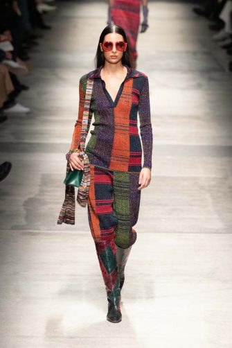 MILAN, ITALY - FEBRUARY 22: A model walks the runway during the Missoni fashion show as part of Milan Fashion Week Fall/Winter 2020-2021 on February 22, 2020 in Milan, Italy. (Photo by Victor Boyko/Getty Images)