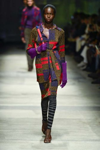MILAN, ITALY - FEBRUARY 22: A model walks the runway during the Missoni fashion show as part of Milan Fashion Week Fall/Winter 2020-2021 on February 22, 2020 in Milan, Italy. (Photo by Victor VIRGILE/Gamma-Rapho via Getty Images)