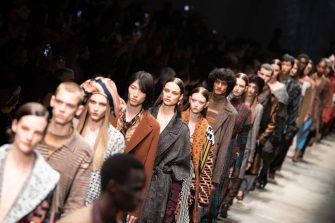 MILAN, ITALY - FEBRUARY 22: Models walk the runway during the Missoni fashion show as part of Milan Fashion Week Fall/Winter 2020-2021 on February 22, 2020 in Milan, Italy. (Photo by Victor Boyko/Getty Images)