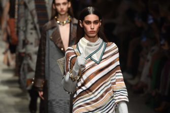 MILAN, ITALY - FEBRUARY 22: Models walk the runway during the Missoni fashion show as part of Milan Fashion Week Fall/Winter 2020-2021 on February 22, 2020 in Milan, Italy. (Photo by Tullio M. Puglia/Getty Images)