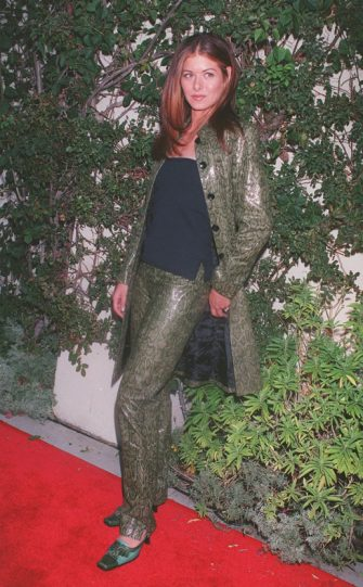 """385813 01 : 7/30/99 Pasadena, CA. Debra Messing (""""Will & Grace"""") arrives at Twin Palms restaurant for the NBC All-Star Press Tour Cocktail Party. Photo by David Keeler/Online USA, Inc."""
