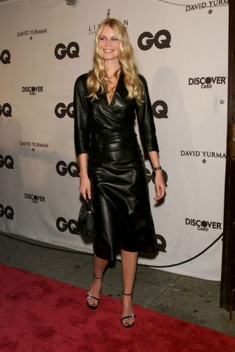 Model Claudia Schiffer arriving at the GQ 'Men of the Year Awards' held in New York City 10/26/00. Show airs on FOX television network on December 9, 2000.  (Photo: Evan Agostini/ImageDirect)