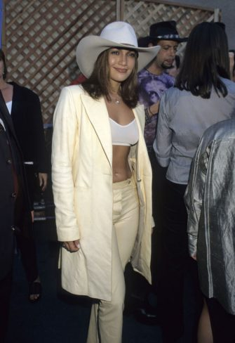 Jennifer Lopez during 1998 MTV Video Music Awards at Universal Amphitheatre in Universal City, California, United States. (Photo by Ke.Mazur/WireImage)