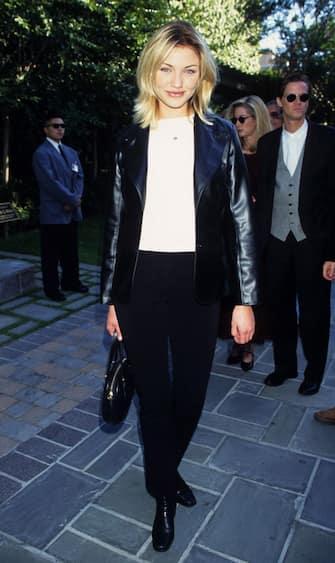 Cameron Diaz during The 1995 MTV Movie Awards at Warner Bros. Studios in Burbank, California, United States. (Photo by Ke.Mazur/WireImage)