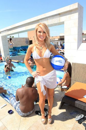 LAS VEGAS, NV - MAY 04:  Television personality Gretchen Rossi poses at the Sapphire Pool & Day Club grand opening party on May 4, 2013 in Las Vegas, Nevada.  (Photo by Gabe Ginsberg/WireImage)