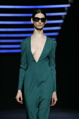 "ROME, ITALY - FEBRUARY 19: A model walks the runway at the Edoardo Gallorini ""La Signora Di Mezzanotte"" Fashion Show during the Altaroma 2021 on February 19, 2021 in Rome, Italy. (Photo by Elisabetta Villa/Getty Images)"