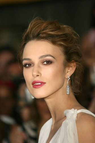 """ANAHEIM, CA - JUNE 24:  Actress Keira Knightley arrives at the world premiere of """"Pirates of the Caribbean 2: Dead Man's Chest"""" held at Disneyland on June 24, 2006 in Anaheim, California.  (Photo by Frederick M. Brown/Getty Images)"""