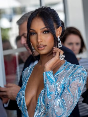 CANNES, FRANCE - MAY 23: Jasmine Tookes is seen at the hotel Martinez during the 72nd annual Cannes Film Festival on May 23, 2019 in Cannes, France. (Photo by Arnold Jerocki/GC Images)