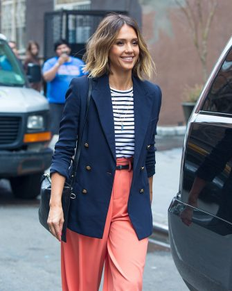 NEW YORK, NY - APRIL 14:  Jessica Alba is seen on April 14, 2015 in New York City.  (Photo by Alessio Botticelli/GC Images)