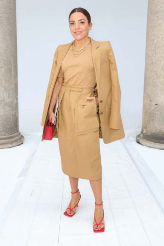 MILAN, ITALY - FEBRUARY 20: Paula Ordovás, wearing Max Mara, attends the Max Mara show during Milan Fashion Week Fall/Winter 2020/2021 on February 20, 2020 in Milan, Italy. (Photo by Vittorio Zunino Celotto/Getty Images for Max Mara)