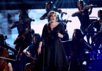 LOS ANGELES, CA - FEBRUARY 08: Singer Adele performing  onstage at the 51st Annual GRAMMY Awards held at the Staples Center on February 8, 2009 in Los Angeles, California.  (Photo by John Shearer/WireImage)