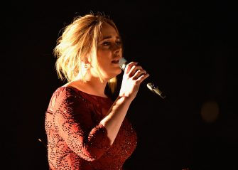 LOS ANGELES, CA - FEBRUARY 15:  Singer Adele performs onstage during The 58th GRAMMY Awards at Staples Center on February 15, 2016 in Los Angeles, California.  (Photo by Kevork Djansezian/Getty Images)